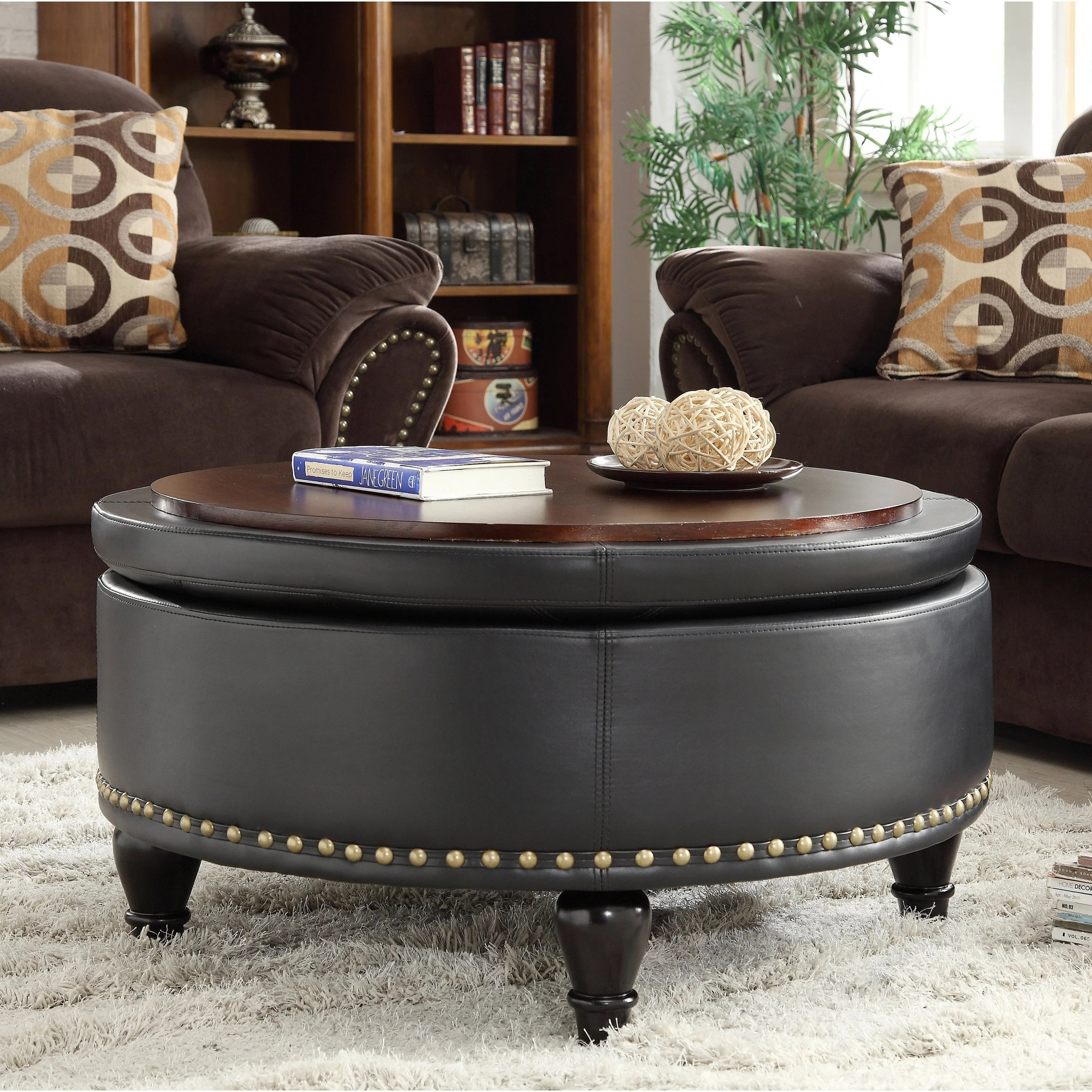 copper grove payara round storage ottoman with flip top surface