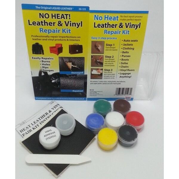 Shop No Heat Liquid Leather Vinyl Repair Kit Fix Holes Burns Rips Gouges Overstock 27900175