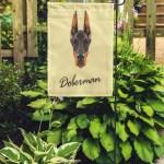 Shop Brown Doberman Pinscher Dog Portrait Of Black On Yellow Red Garden Flag Decorative Flag House Banner 12x18 Inch On Sale Overstock 31400714