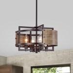 Shop Hodge Oil Rubbed Bronze 4 Light Metal Geometric Pattern Drum Shade Chandelier On Sale Overstock 31984636