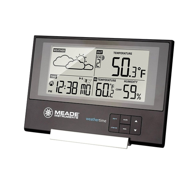 Shop Meade TE346W Slim Line Personal Weather Station With Atomic Clock Free Shipping On Orders