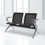 Worldrich Office Reception Chairs Waiting Room Chairs For Salon Barber Bench Airport Bank Hall Visitor Guest Black Pu Leather 1 Seat Sofa Office Furniture Accessories Chairs Sofas