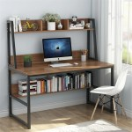 47 Computer Desk With Hutch And Bookshelf Overstock 26038456