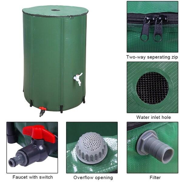 50 66 100 gallon folding rain barrel
