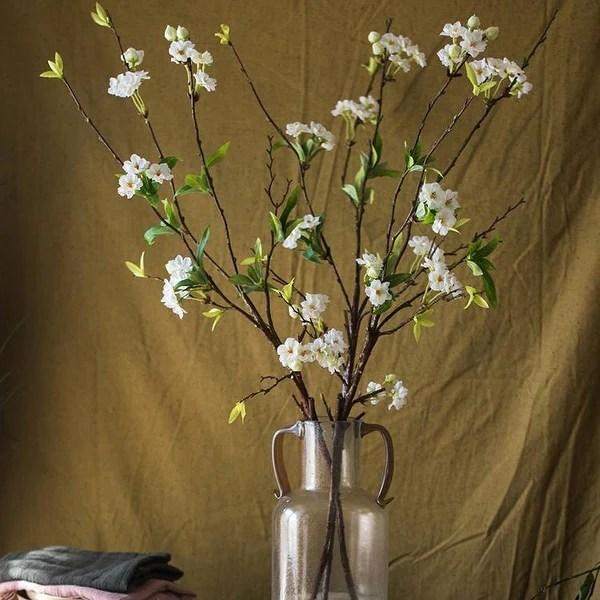 Shop Rusticreach Artificial Flower Peach Blossom Stem 37 Tall Overstock 25440156
