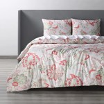 Shop Exclusive Fabrics Divine Coral Cotton Percale Printed Duvet Cover Set Overstock 32232672