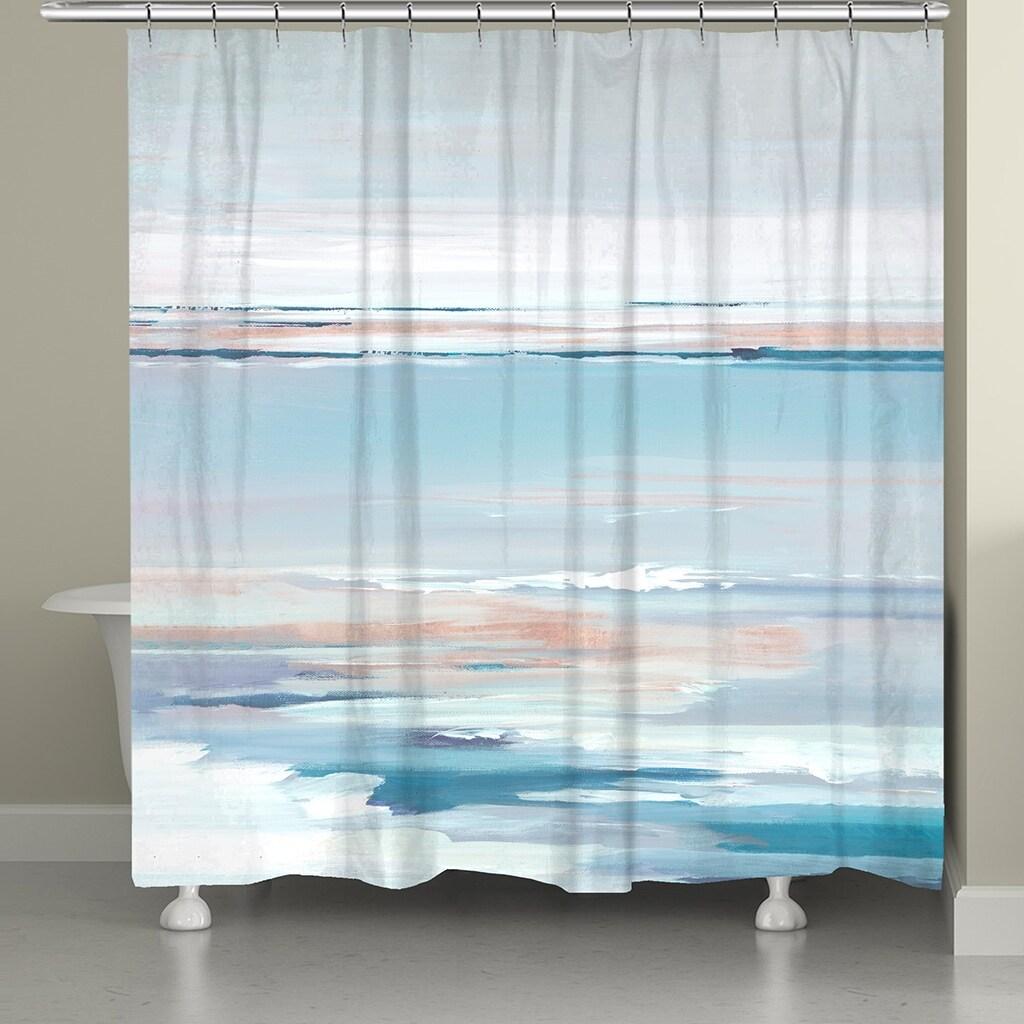 pastel horizon shower curtain