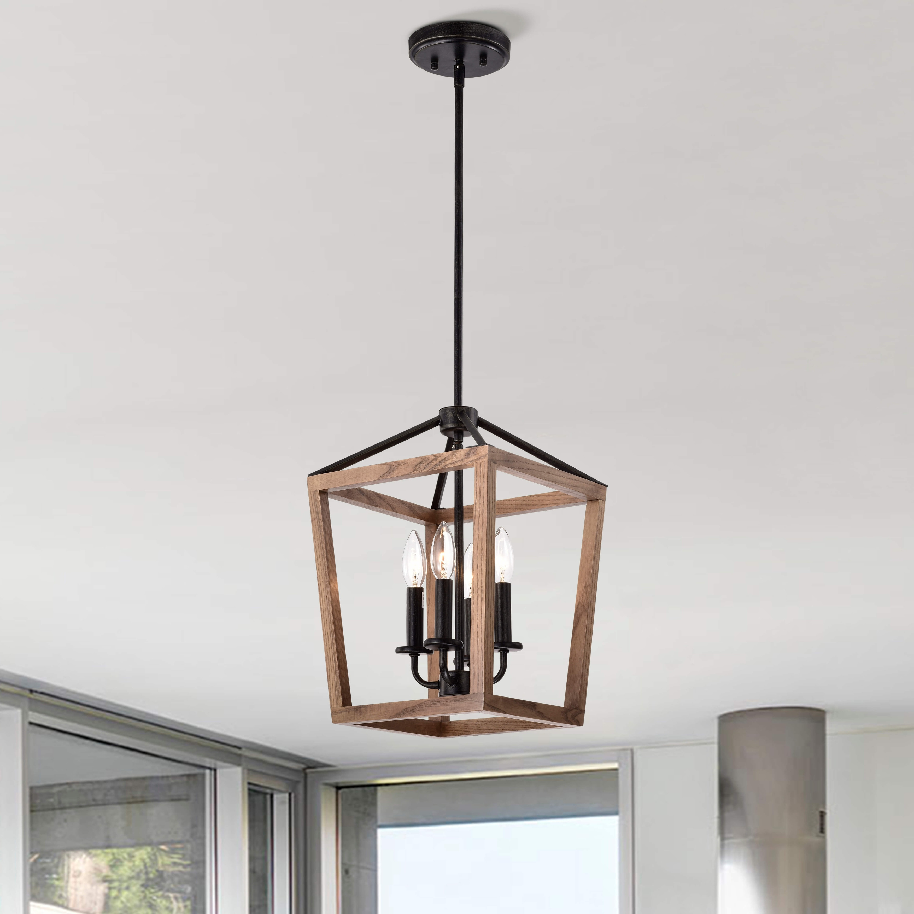 https www overstock com lighting ceiling fans the gray barn chatsworth 4 light antique black iron and wood cage chandelier 29793061 product html