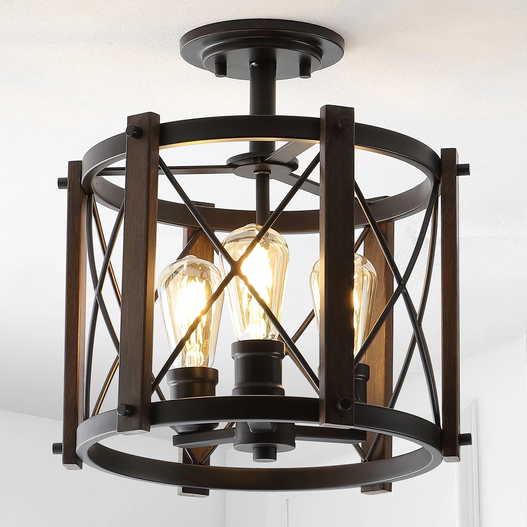 flush mount lighting farmhouse oil