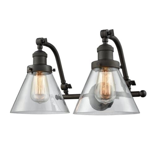 innovations lighting 515 2w large cone 2 light 18 wide bathroom vanity light free shipping today overstock com 26988212