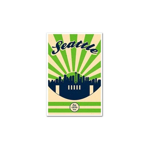 seattle seahawks vintage football matte poster 16x24