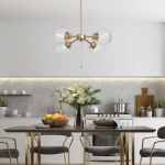 Mid Century Modern Glam 4 Lights Pendant Lights Hanging Ceiling Lighting For Kitchen Island Dining Room D19 7 X H11 5 On Sale Overstock 30668070