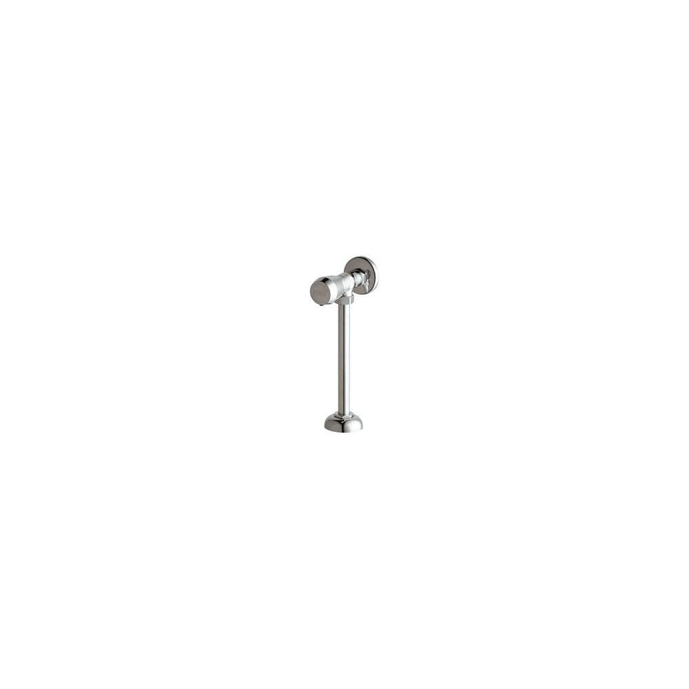 chicago faucets 732 665psh angle urinal valve with push button handle chrome