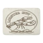 Vintage Seafood Restaurant Retro Emblem Dinner Fresh Lobster Drawing Food Doormat Floor Rug Bath Mat 23 6x15 7 Inch Multi On Sale Overstock 31777694