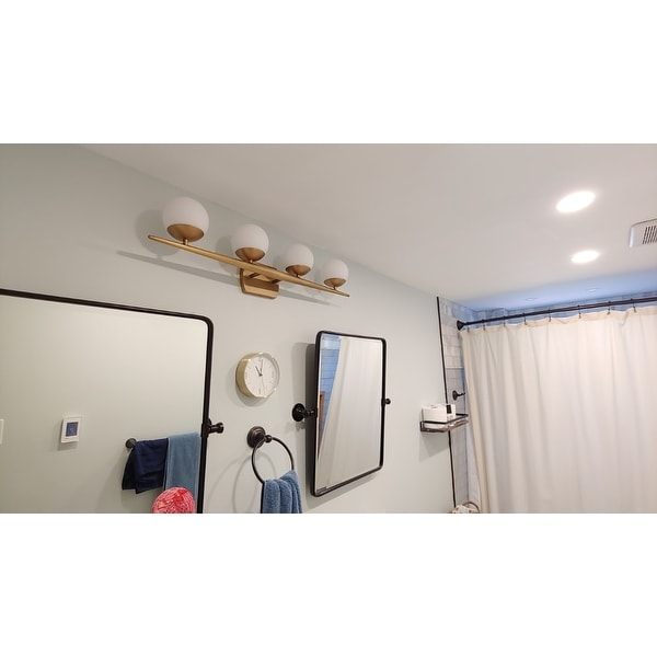 kichler lighting jasper collection 4 light natural brass halogen bath vanity light