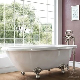 Shop Spa Collection 56 Inch Classic Style Clawfoot Tub And