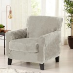 Great Bay Home 2 Piece Velvet Plush Stretch Chair Slipcover Overstock 31644311