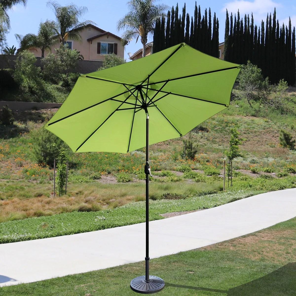 davee furniture 9 round patio umbrella outdoor table umbrella with 8 sturdy ribs green