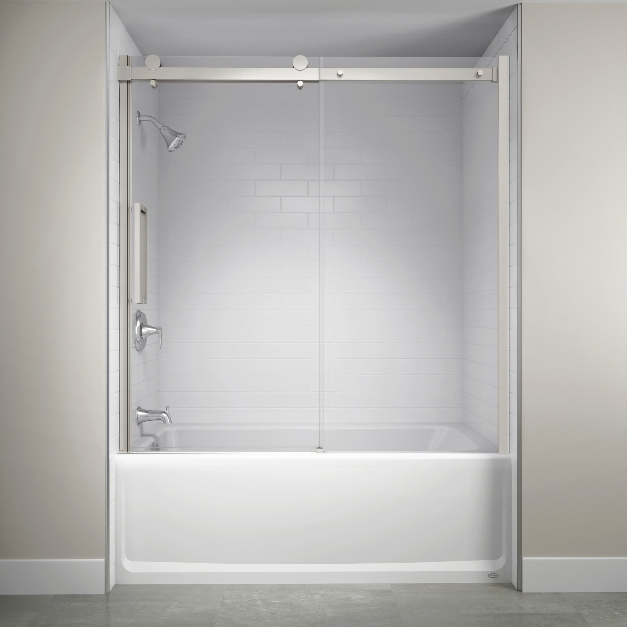 Jacuzzi Sx59 59 High X 60 Wide Sliding Semi Frameless Tub Door With Clear Glass