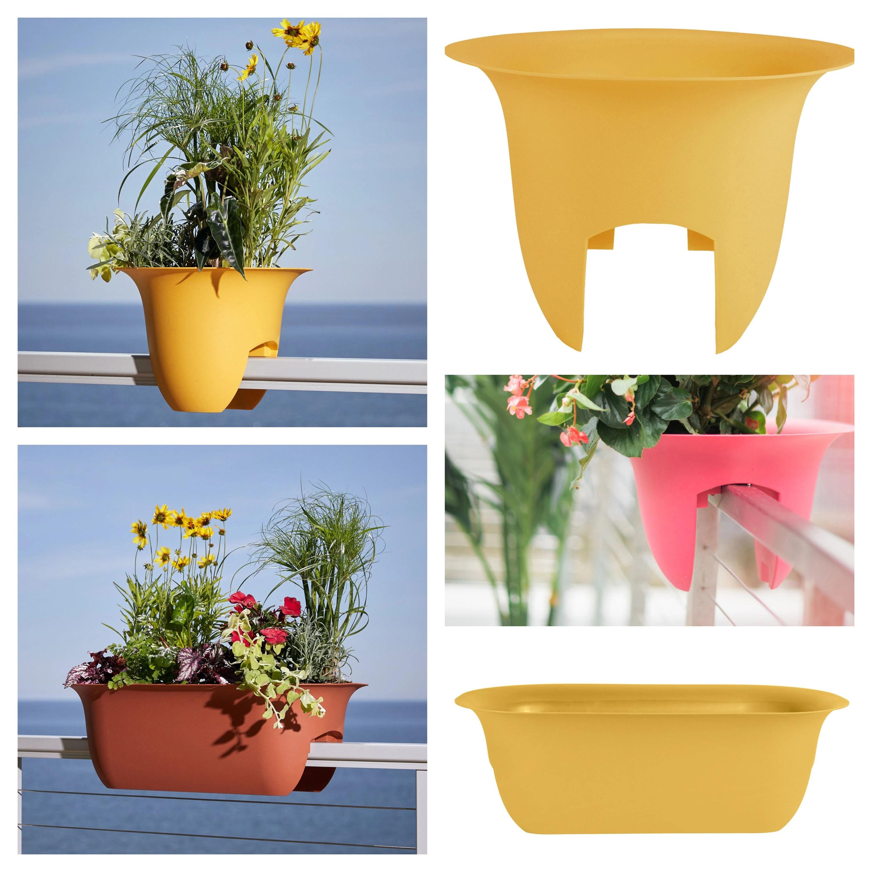 bloem modica deck rail planter 24 casper white 24