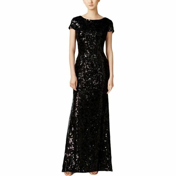 Shop Calvin Klein Black Women S Size 2 Sequin Cowl Back