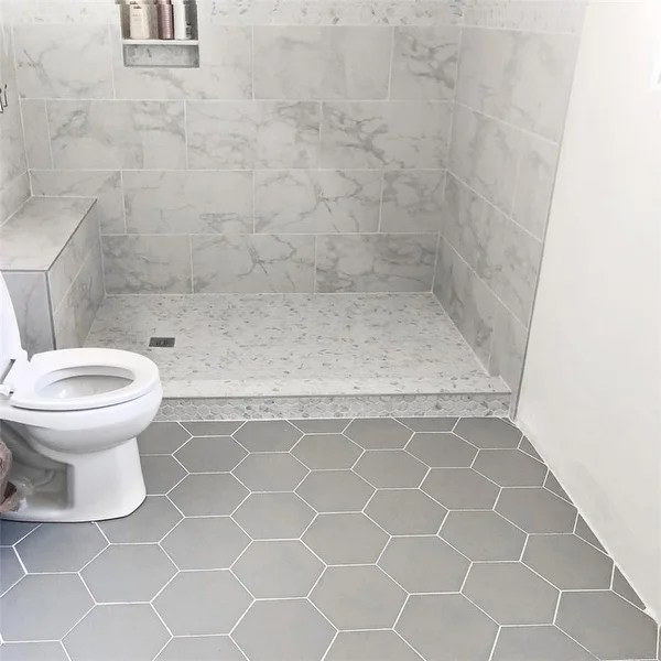 grey hexagon tile find great home