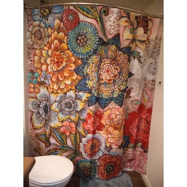 bohemian bouquet shower curtain