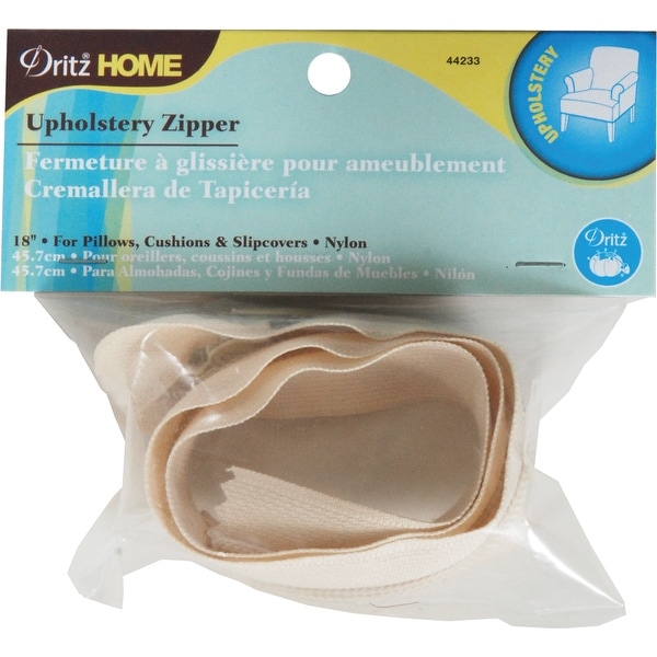 dritz nylon upholstery zipper 18 cream cream
