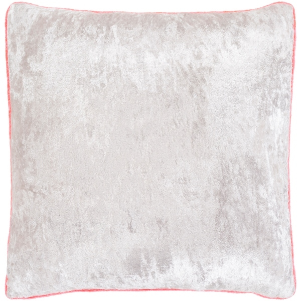 selena pink ivory crushed velvet throw pillow cover 22 x 22