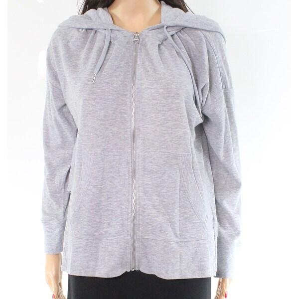 Shop Calvin Klein Women S Large Full Zip Hooded Knit