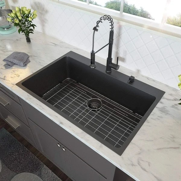 black stainless steel sinks shop our