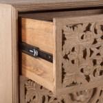 Haveli Hand Carved Mango Wood 6 Drawer Dresser Overstock 12833471