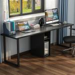 78 Extra Large Double Workstation Computer Desk For Two Person Simple Modern Style Office Desk With Storage And Cabinet Overstock 22633355
