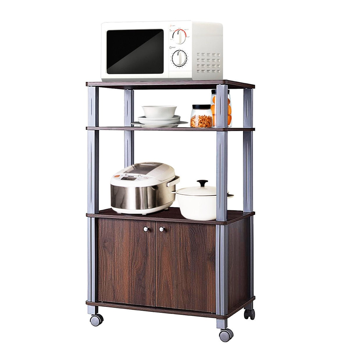 yaheetech 35 5 inches microwave cart