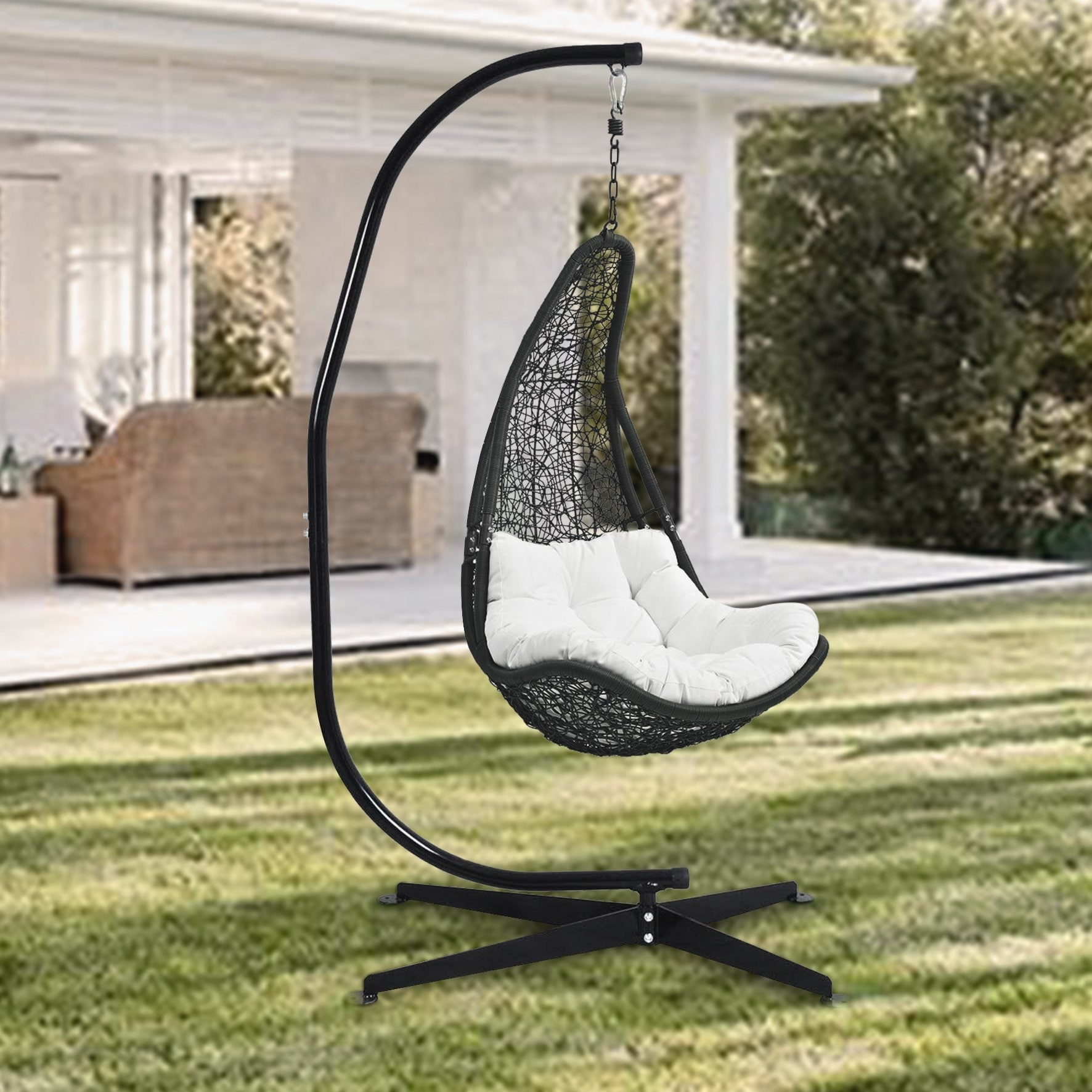 Shop Heavy Duty Portable C Stand For Hanging Chair Solid Steel Construction Outdoor Indoor Stand Only Overstock 31623730