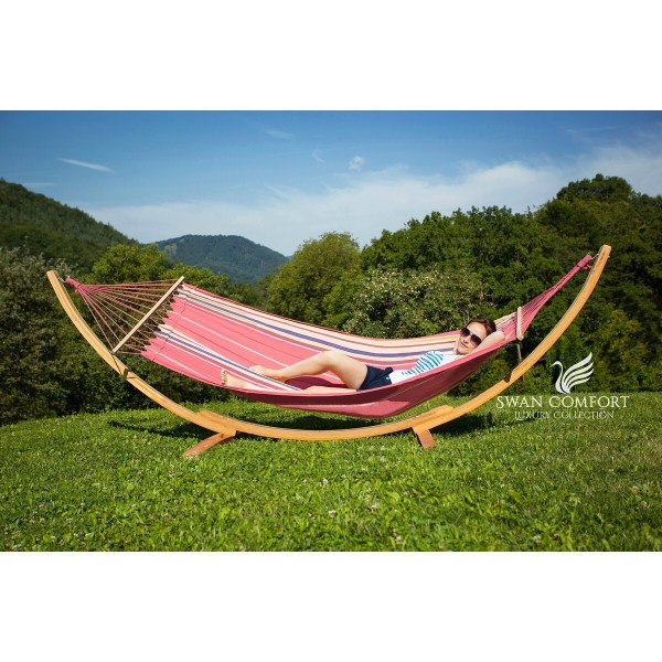 Buy Cotton Hammocks   Porch Swings Online at Overstock com   Our     Swan Comfort Extra Heavy Duty Swing Cotton Hammock