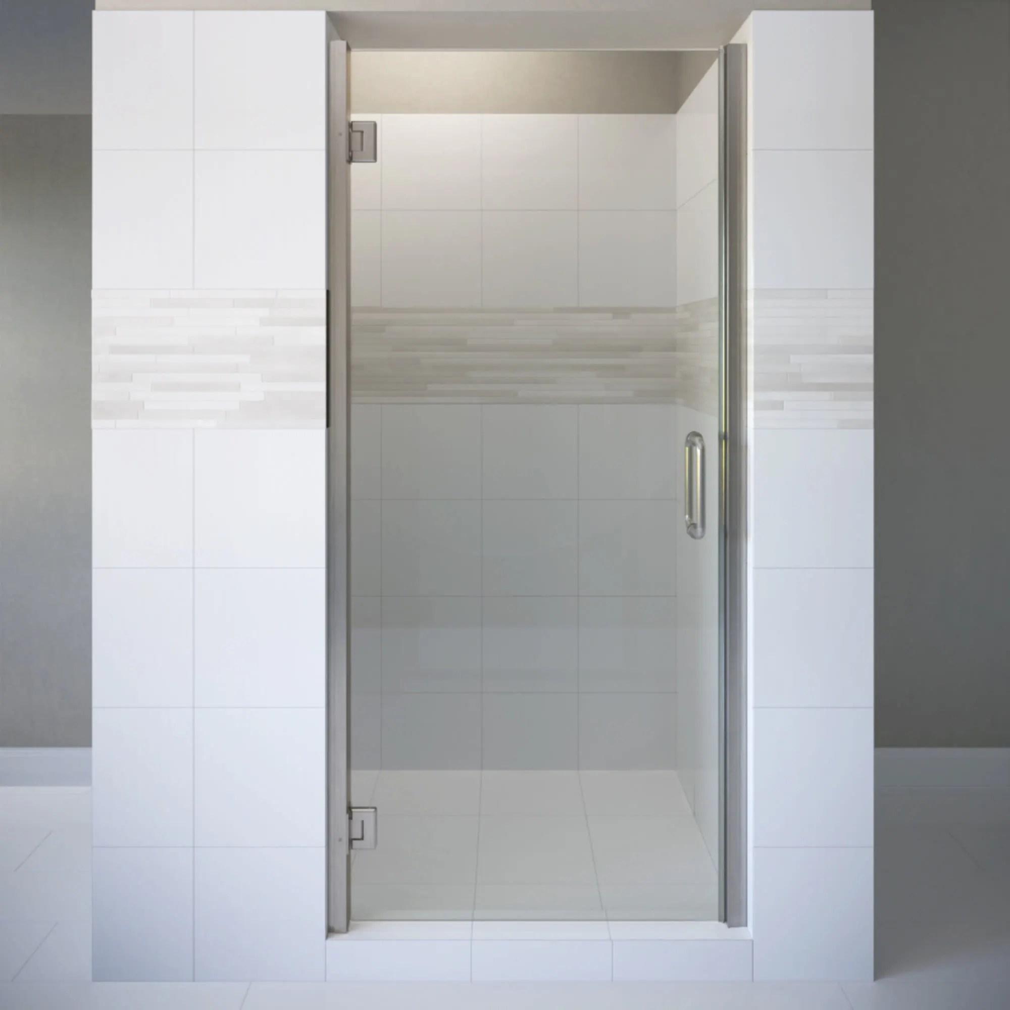 Basco Copa00a2976xp Coppia 76 High X 29 9 16 Wide Hinged Frameless Shower Door