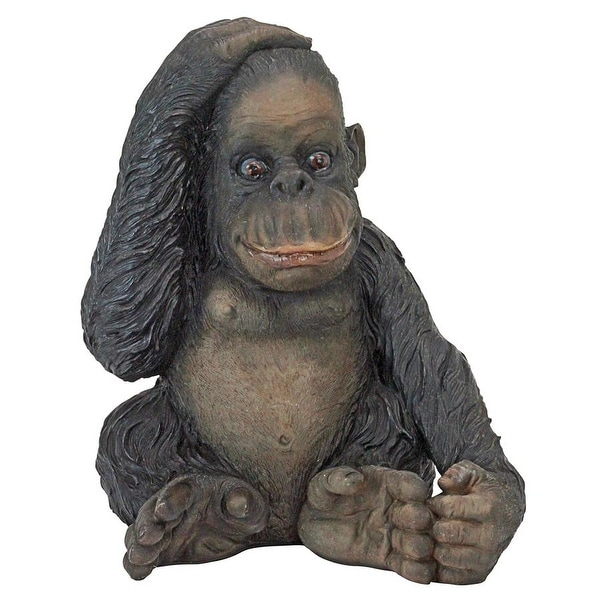 Shop Design Toscano Curly The Chimpanzee Of The Jungle Funny Monkey Statue Overstock 21708088