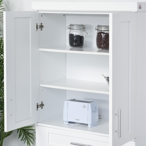 Homcom Modern Kitchen Pantry Freestanding Cabinet Cupboard 30 W X 15 75 D X 72 H Overstock 32496711