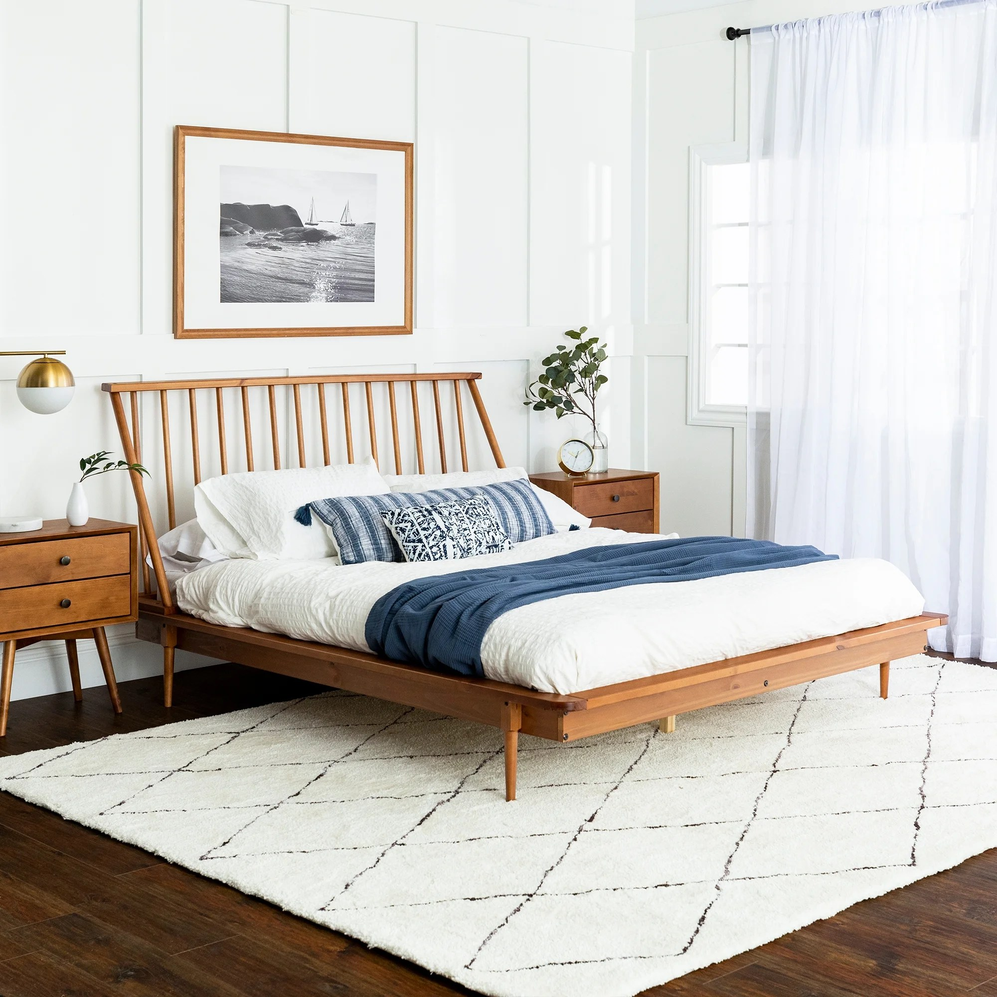 Carson Carrington Blaney Solid Pine Wood Spindle Bed On Sale Overstock 27148607