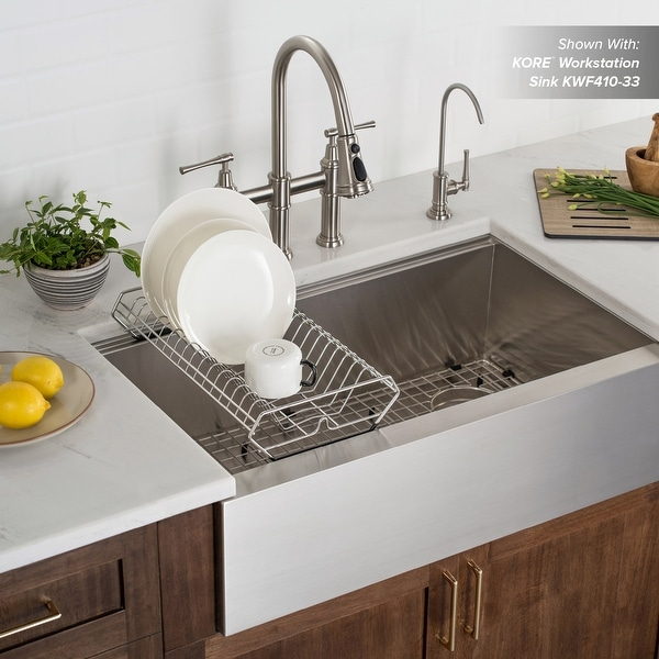 https www overstock com home garden kraus workstation kitchen sink dish drying rack in stainless steel 29569447 product html