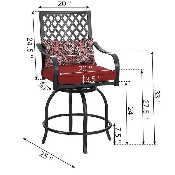 https www overstock com home garden phi villa outdoor swivel bar stools bar height patio chairs all weather metal frame with cushion 31978237 product html
