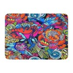 Blue Abstract Bright Floral In Graphic Colors Colorful Accent Doormat Floor Rug Bath Mat 23 6x15 7 Inch Multi On Sale Overstock 31780654