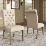 Benchwright Linen Tufted Dining Chair With Grey Finish Legs Set Of 2 By Inspire Q Artisan Overstock 31144755