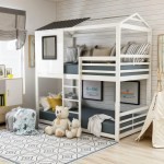 Furniture Of America Vaia White Twin Over Twin Metal Bunk Bed Overstock 21176204