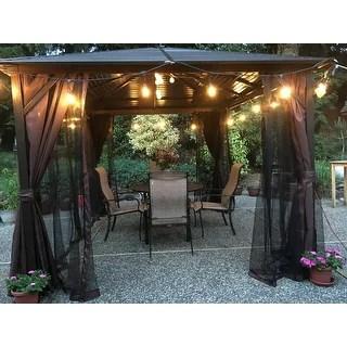 outsunny steel hardtop outdoor gazebo