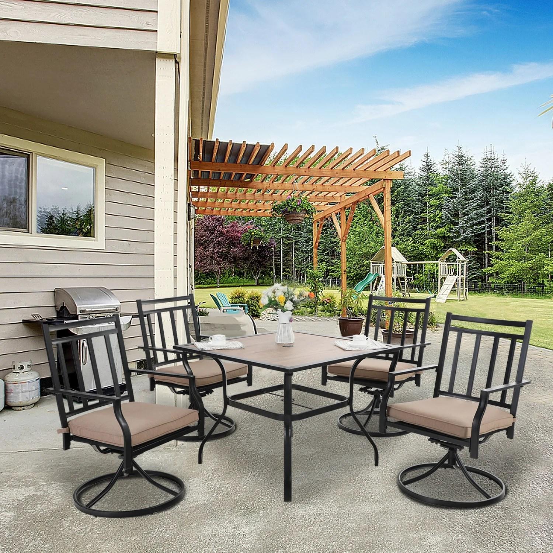 mfstudio 5 piece outdoor patio dinning