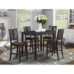 Black Counter Height Table And 4 Kitchen Counter Chairs 5 Piece Dining Set Overstock 10201081