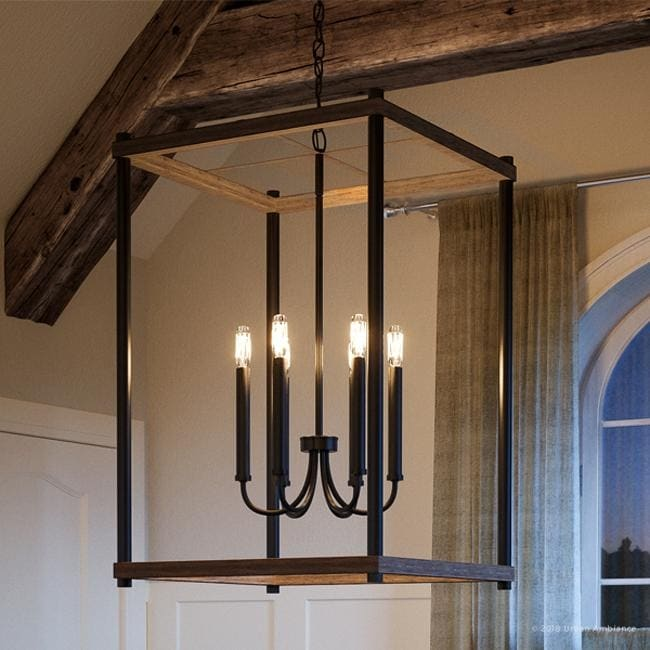 luxury modern farmhouse pendant light 32 h x 20 w with english country style olde bronze finish by urban ambiance 20