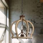 Shop Black Friday Deals On Antique Farmhouse Rustic Wood Chandelier Distressed White 3 Light Hallway Lighting Overstock 31590271